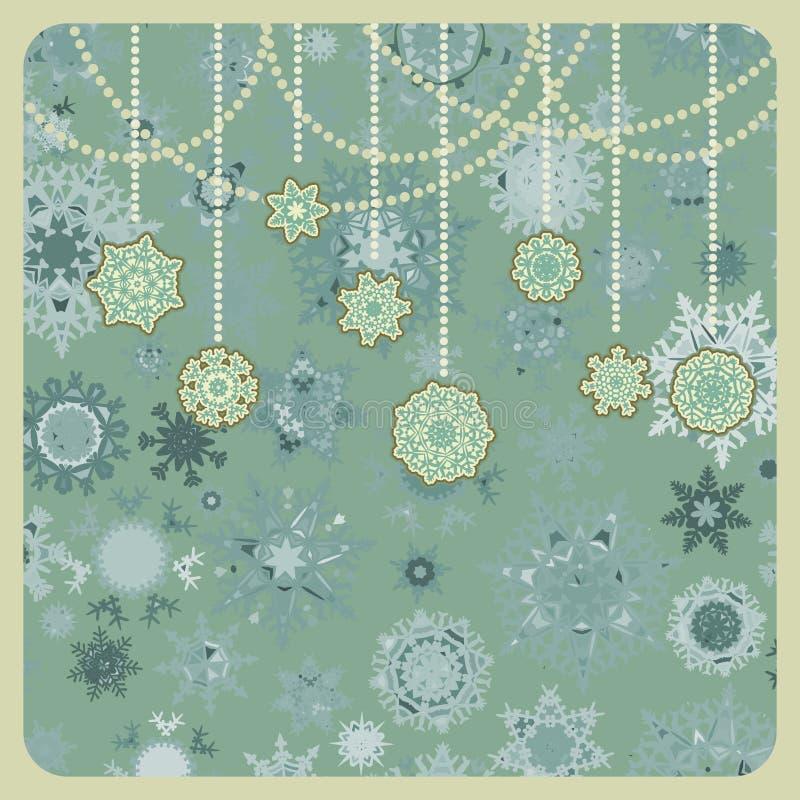 Ornamentos retros de la Navidad. EPS 8 stock de ilustración