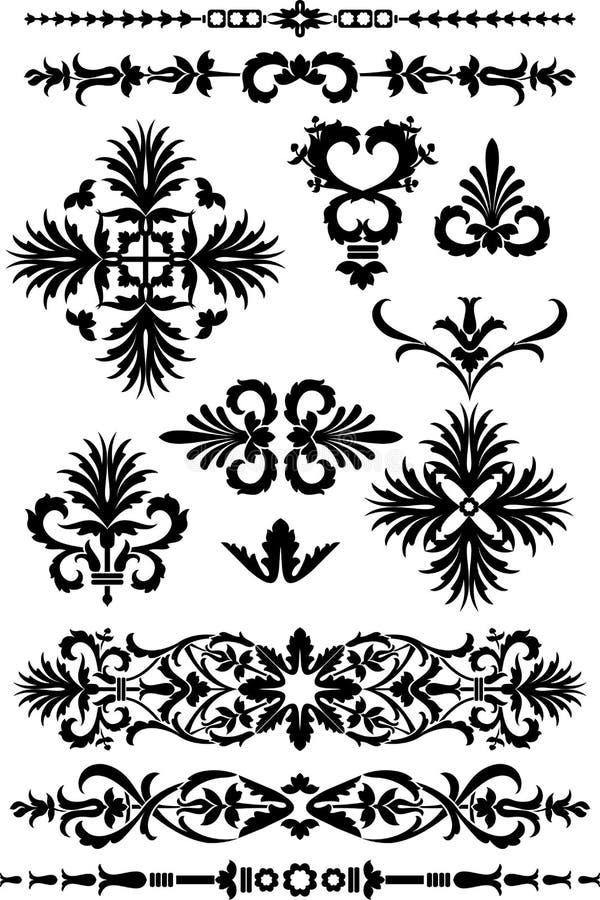 Ornamentos victorianos ilustración del vector