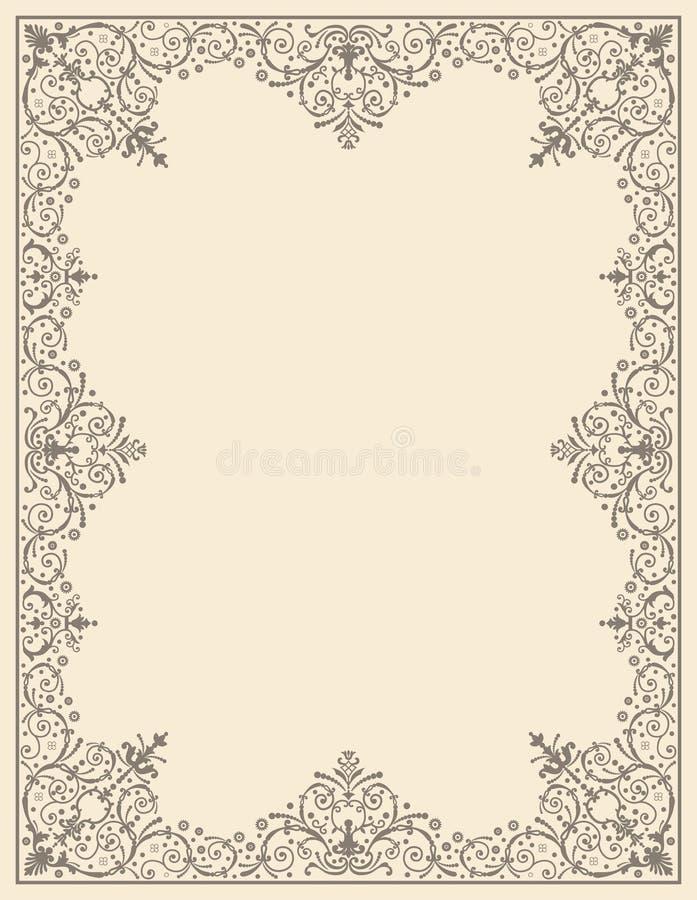 Ornamentrahmenweinlese stock abbildung