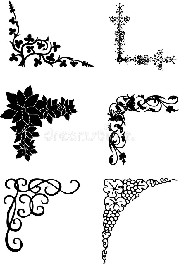 Ornaments. Work with vectors,illustration
