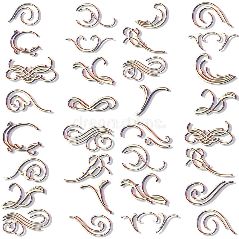 Free Ornaments And Scrolls Vector Royalty Free Stock Images - 13485349