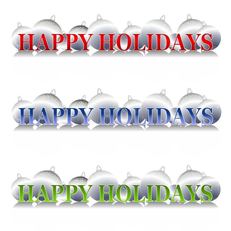 Ornaments boas festas o logotipo ilustração do vetor