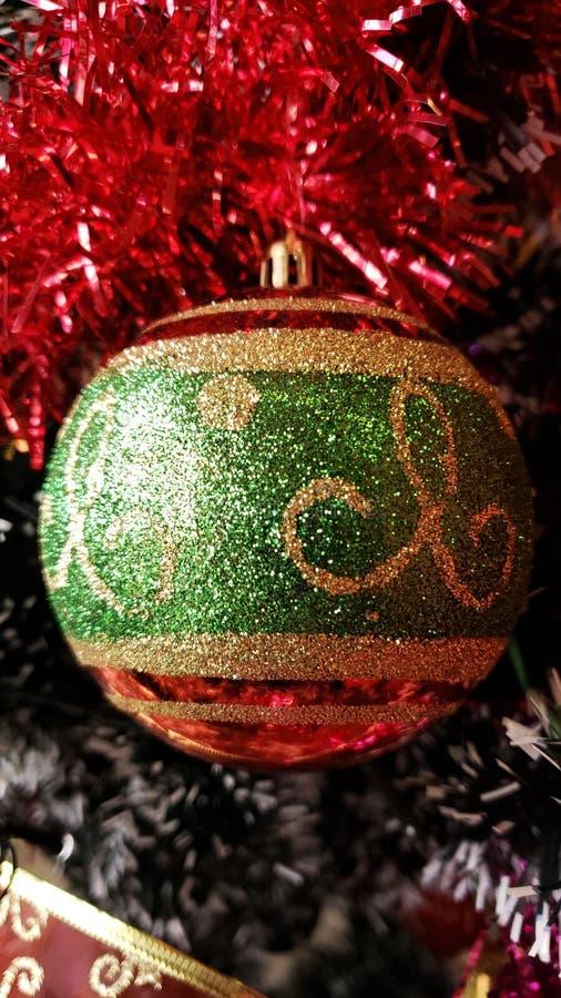 Ornaments of a colorful and sketchy Christmas tree 3. Enfeites de uma árvore de natal colorido e com desenho royalty free stock images
