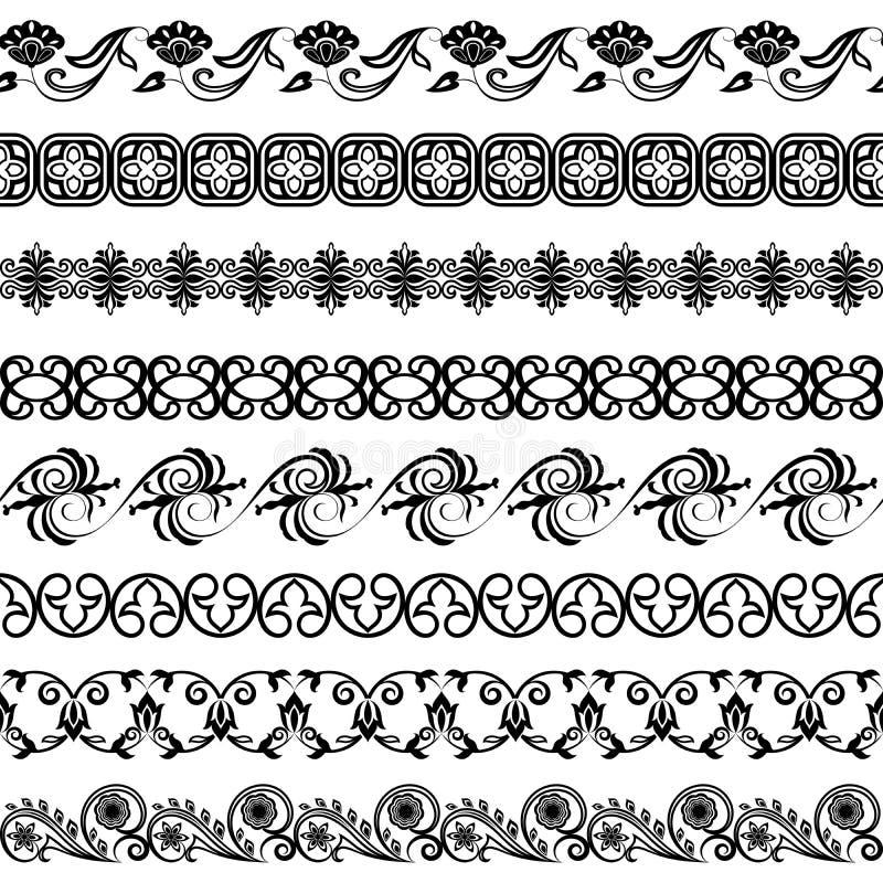 Ornaments o molde ilustração do vetor
