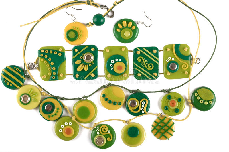 Ornaments from polymer clay stock photos