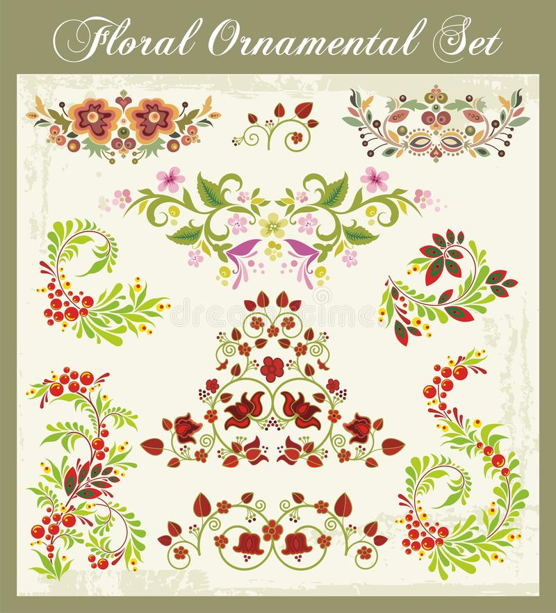 Download Ornaments in Russian Style stock vector. Image of plant - 23814069