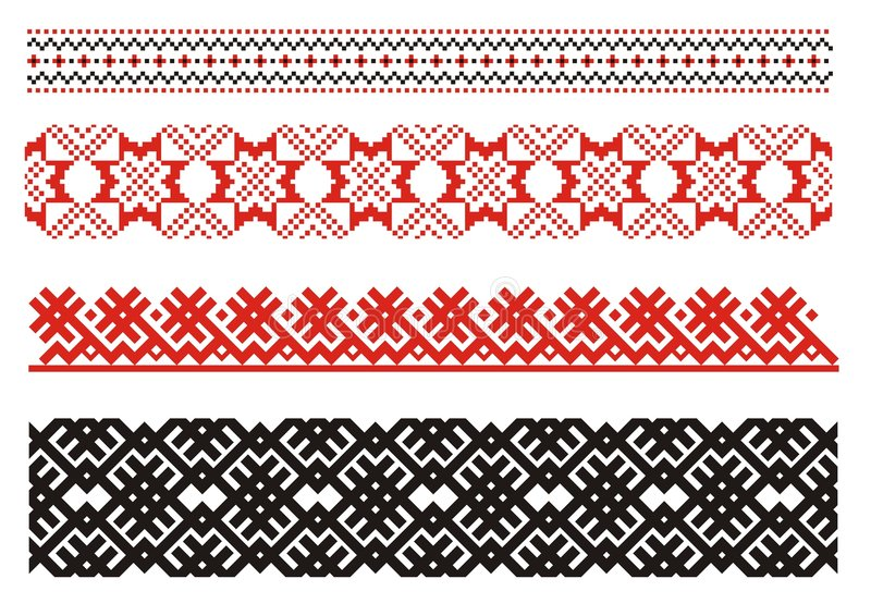 Ornaments. Ukrainian art. stock illustration