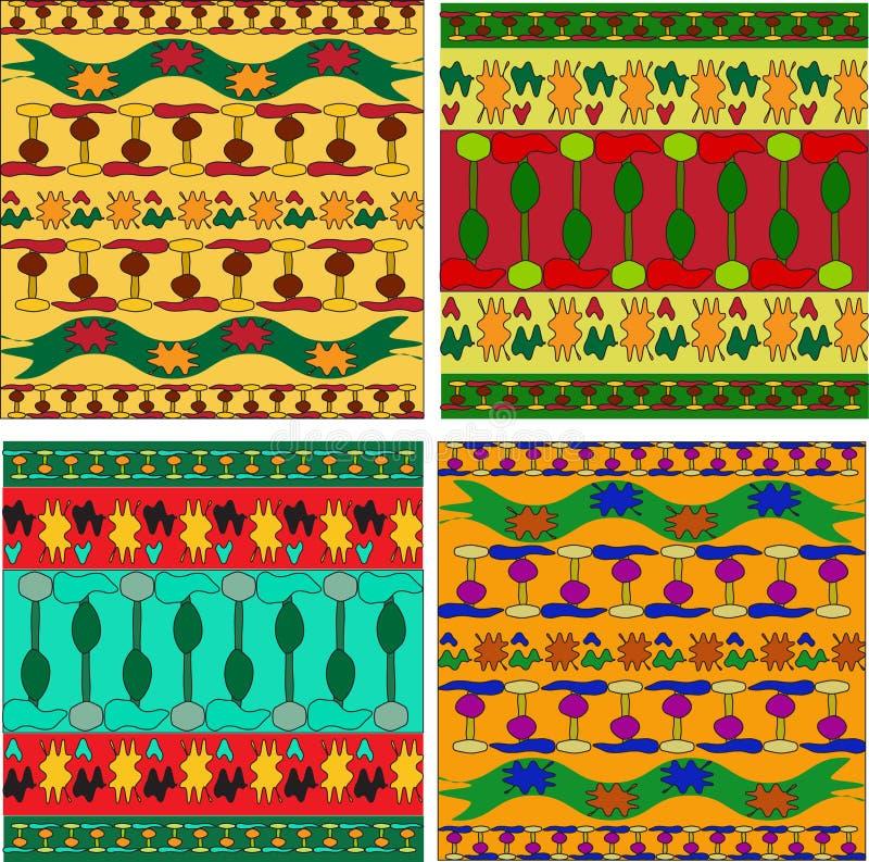 ornamentu afrykański set ilustracji