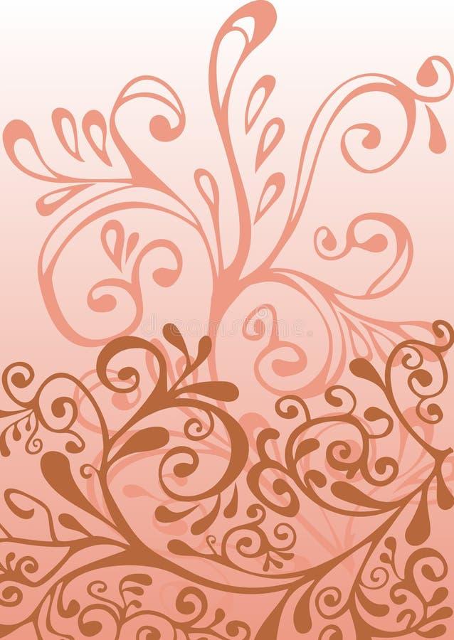 ornamentu biel różowy czerwony ilustracja wektor