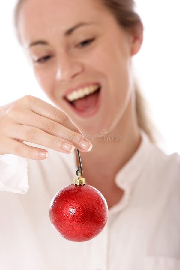 ornamentu czerwony swiat drzewa zdjęcia stock