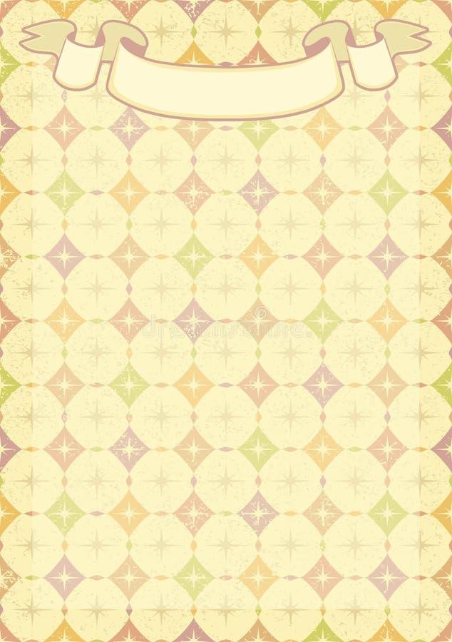 ornamentu geometryczne tła księgi stary rocznik ilustracja wektor
