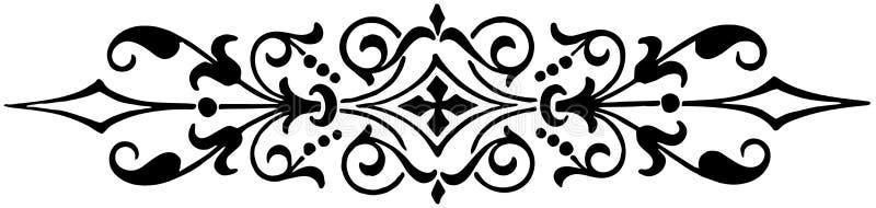 Ornamentu kwiecisty czarny i biały wektor ilustracja wektor