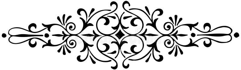 Ornamentu kwiecisty czarny i biały wektor ilustracji