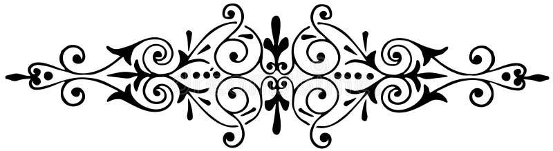 Ornamentu kwiecisty czarny i biały wektor royalty ilustracja