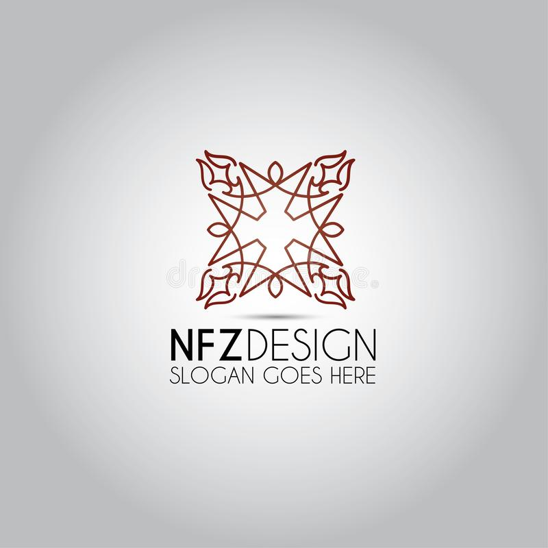Ornamentu mandala wektoru logo ilustracja wektor