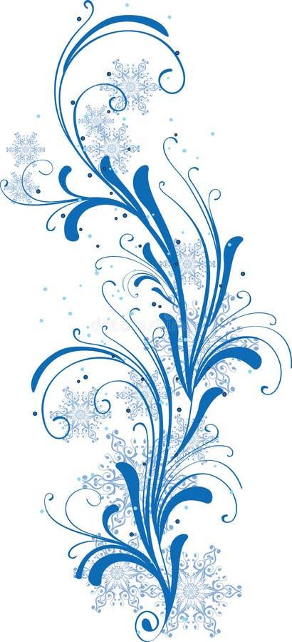 ornamentu płatków śniegów zima royalty ilustracja