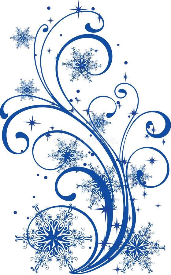 ornamentu płatków śniegów zima ilustracja wektor