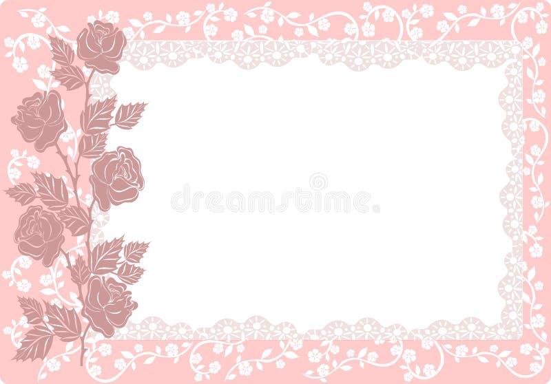 ornamentu róż wektor royalty ilustracja