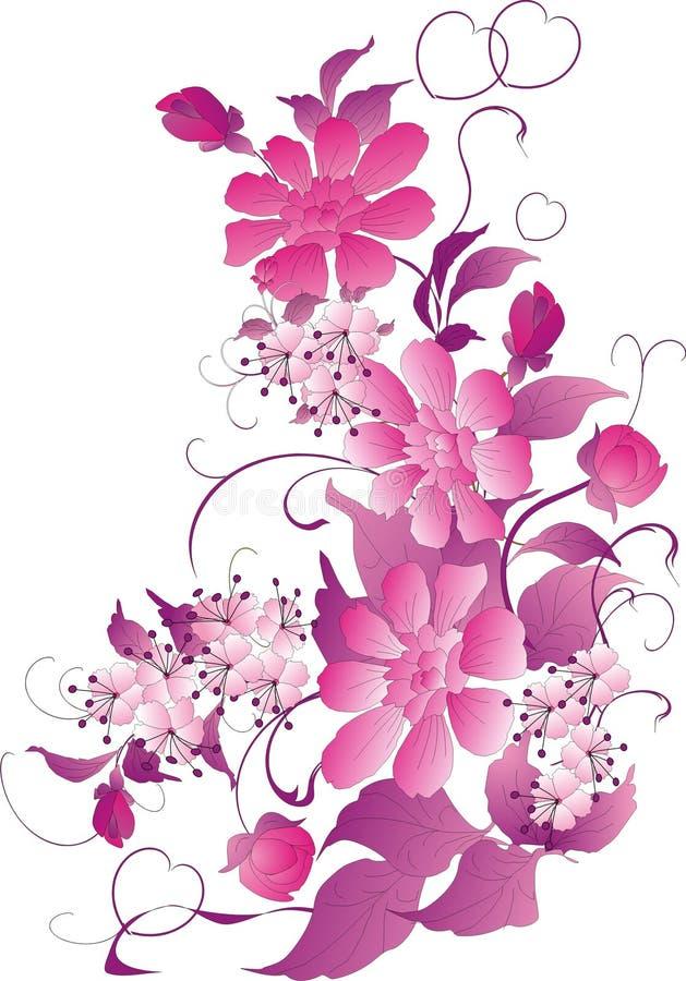 ornamentu różowy kwiat ilustracji