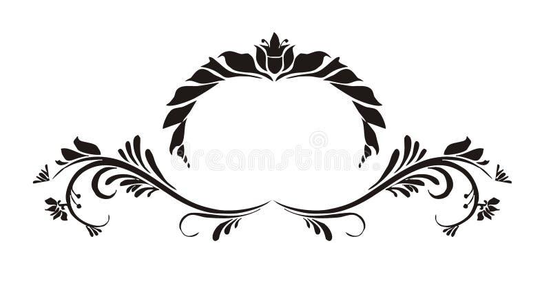 Ornamentu rocznik dla ślubnej zaproszenie karty obrazy royalty free