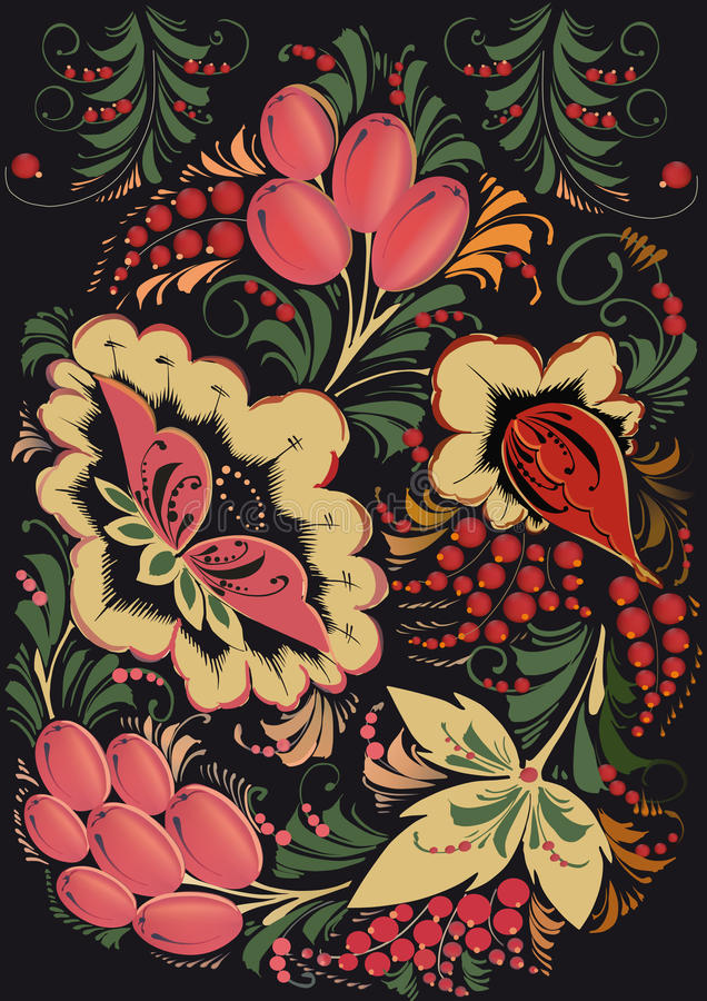 ornamentu rosjanin ilustracji