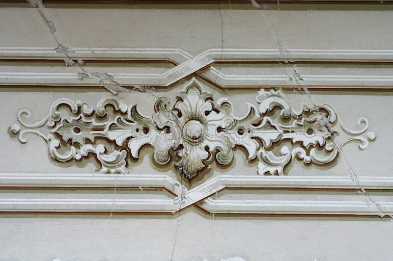 Ornamentu szczegółu barokowa ściana obrazy royalty free