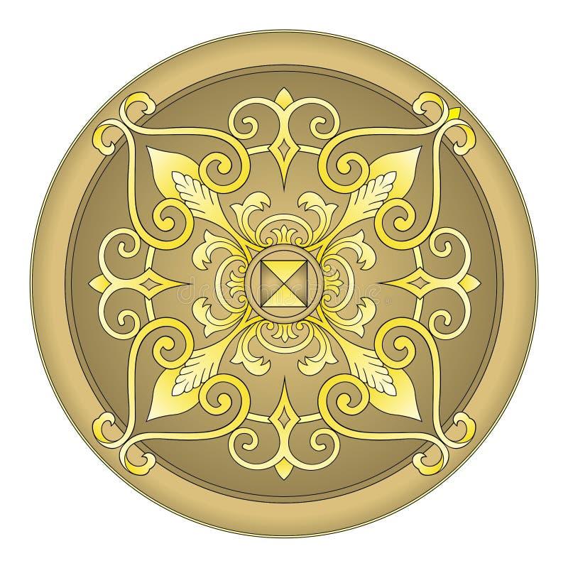 ornamentu wschodni złocisty wektor royalty ilustracja