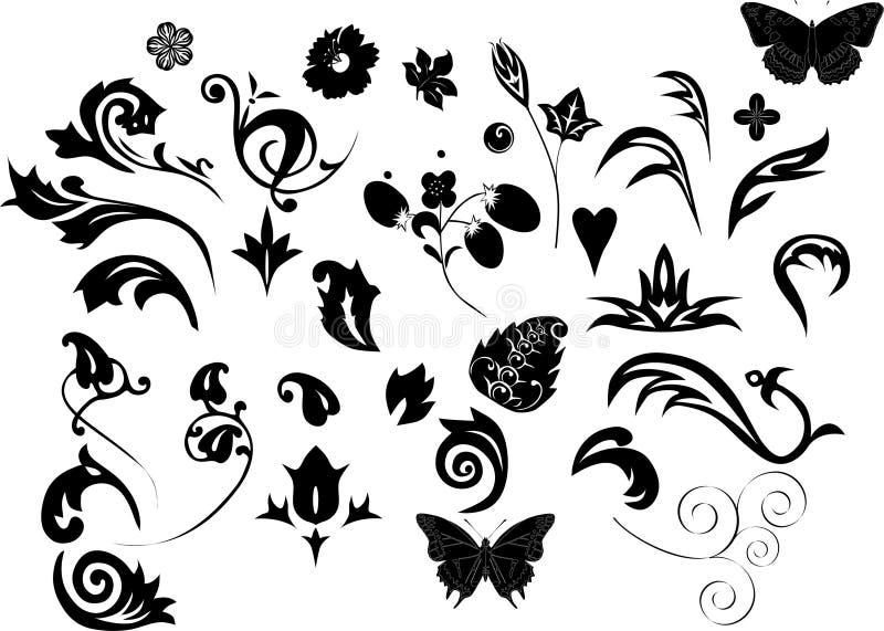ornamentują zestaw elementów royalty ilustracja