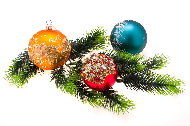 ornamentuje s drzewa rok fotografia stock