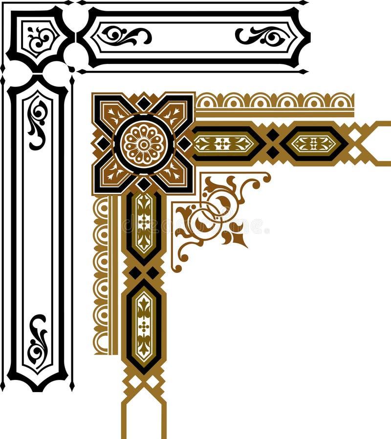 Ornamenty dla introligatorstwa obraz stock