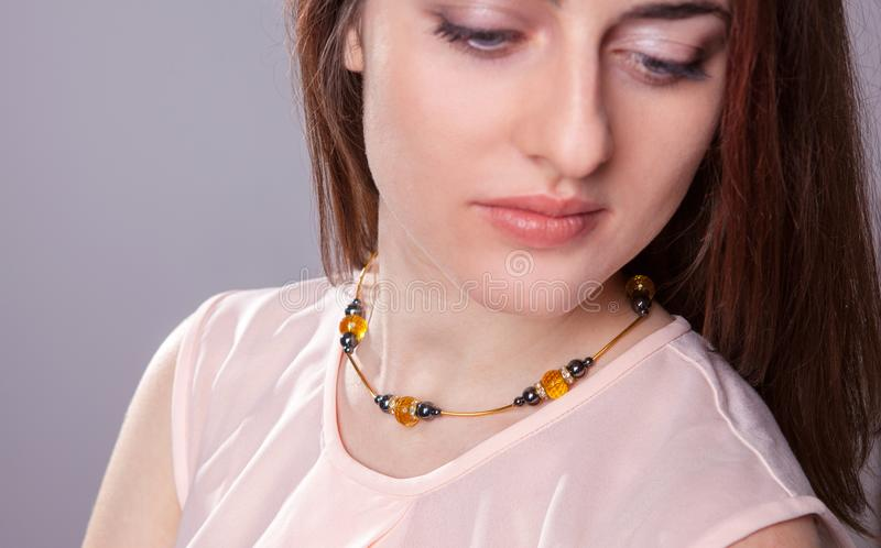 Ornamenty, kobiety ` s biżuteria, kolczyki, breloczki obraz stock
