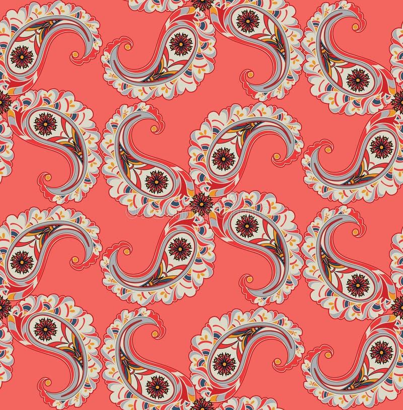 Ornamnet floral abstracto Modelo del ornamental de la hoja del remolino libre illustration