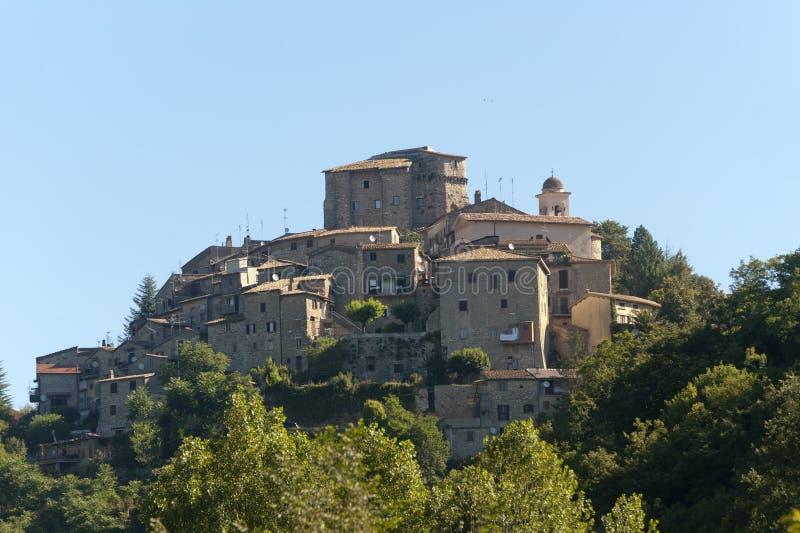 Ornaro (Rieti, Lazio, Italy) - old village. On the hill royalty free stock photo
