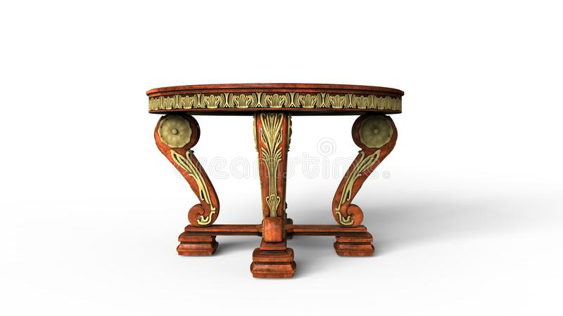 Ornate Antique Table royalty free illustration