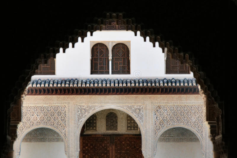 Ornate Arches at The Alhambra, Spain royalty free stock photo