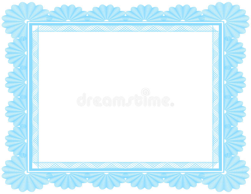 Download Ornate Blank Certificate In Blue Royalty Free Stock Image - Image: 19052236