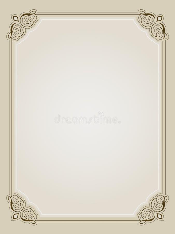 Download Ornate border stock illustration. Illustration of ornament - 12898489
