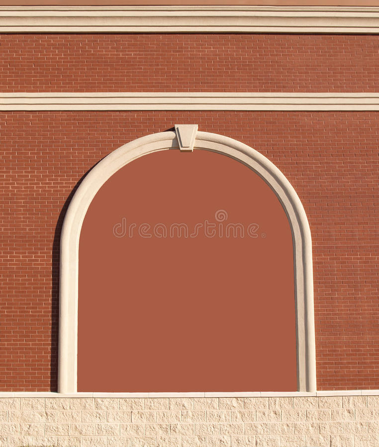 Ornate brick wall with copy space. stock photo