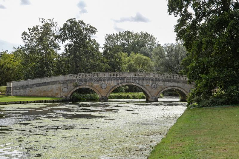 Ornate Bridge over the River Cam royalty free stock photo