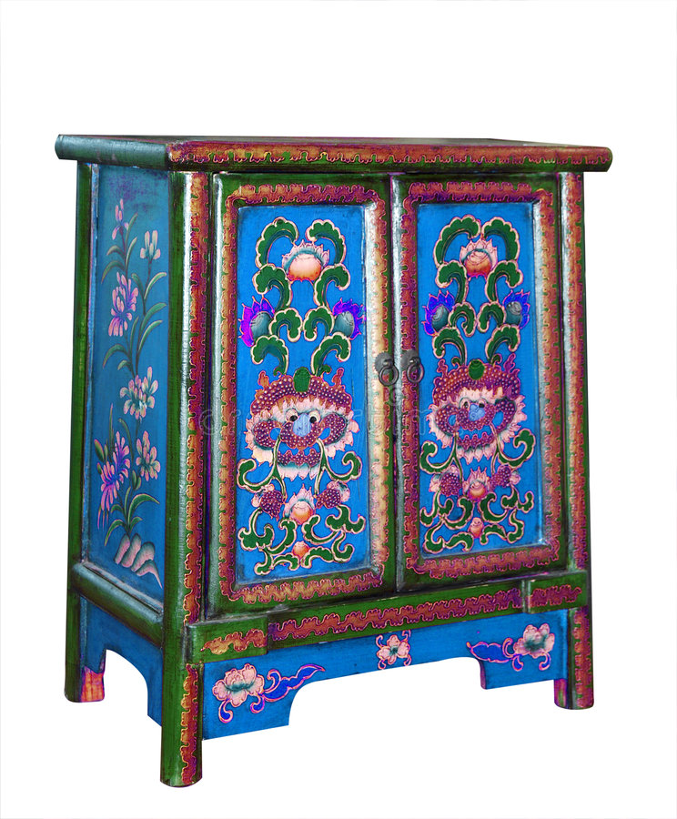 Download Ornate Cabinet stock image. Image of design, locker, green - 8717915