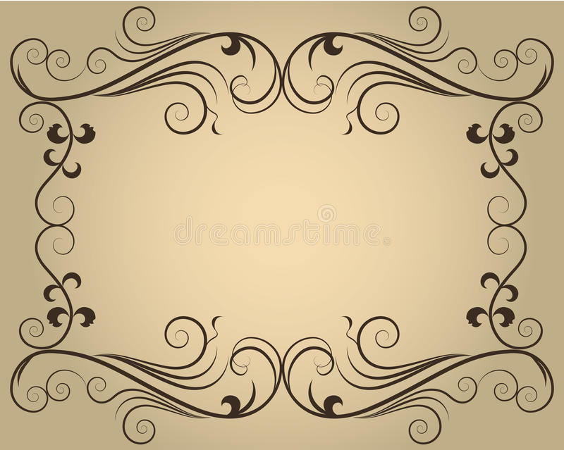 Download Ornate calligraphic frame stock vector. Image of element - 25809767