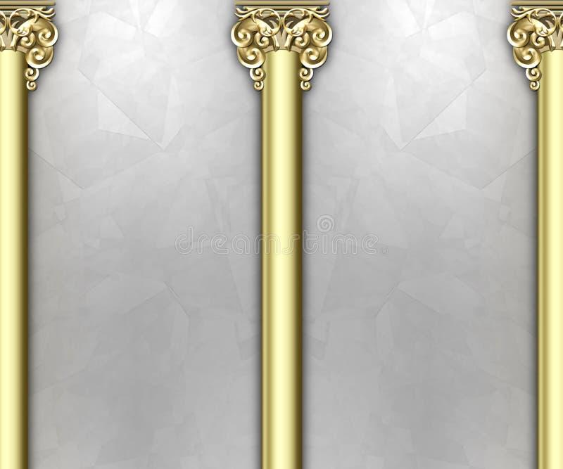 Ornate column background stock illustration
