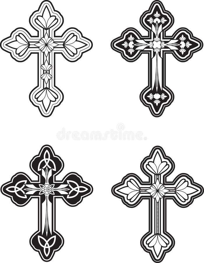 Ornate Cross royalty free illustration