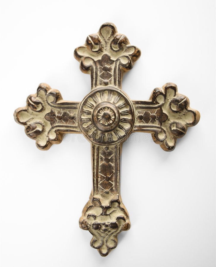 Ornate cross. royalty free stock photos