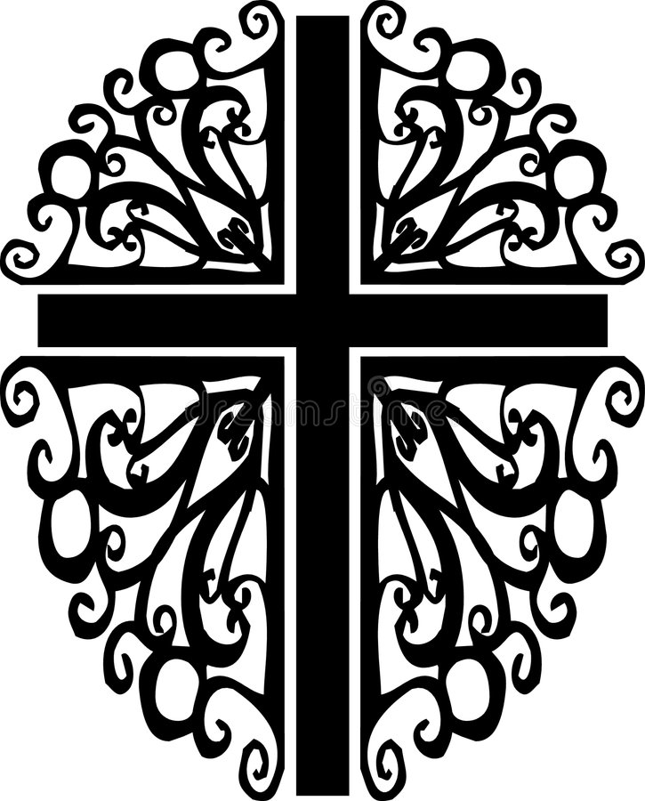 Download Ornate cross silhouette 2 stock vector. Image of holy - 3969241