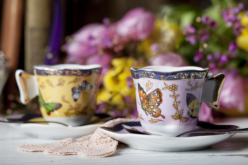 Ornate Demitasse Cups 2 stock images