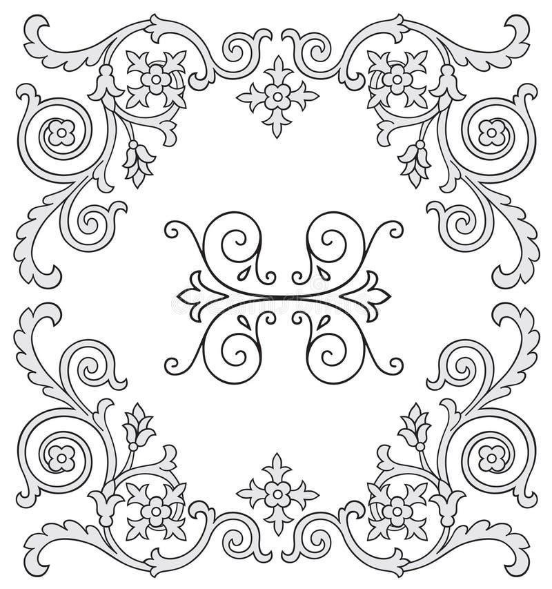 Ornate design elements. Vector illustration of ornate design elements vector illustration