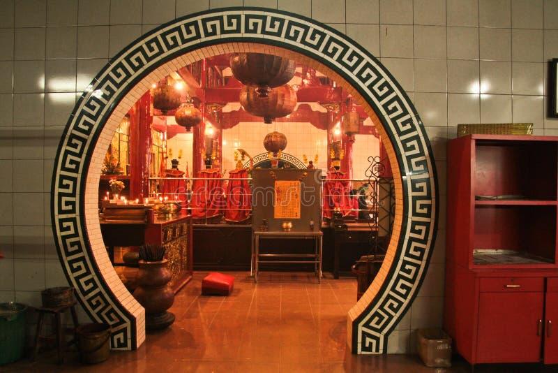 Ornate doorway of the Chinese Vihara Gunung Timur Temple of the. Doorway of the Chinese Vihara Gunung Timur Temple of the city of Medan, Sumatra, Indonesia royalty free stock images
