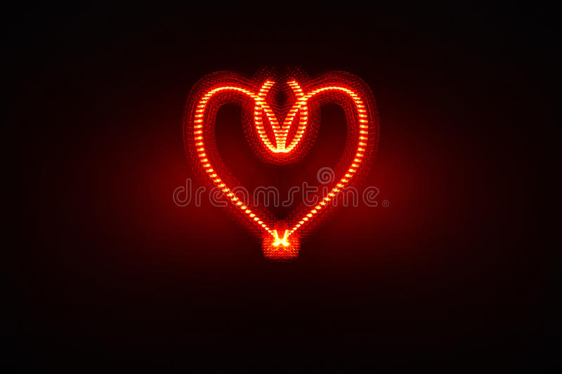 Download Ornate electric heart stock photo. Image of illuminated - 17911918