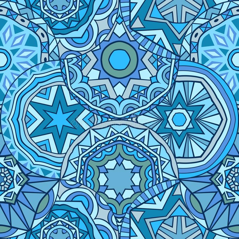 Blue colors abstract seamless pattern. royalty free illustration